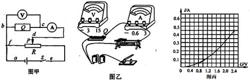 """""""习题详情  ①图乙中的实物连线按图甲的电路图补充完整."""