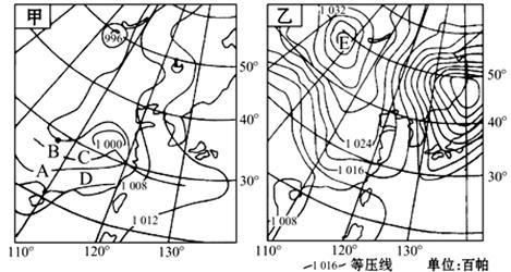 读山谷风示意图,图中实线为等压线,虚线为等温线.回答