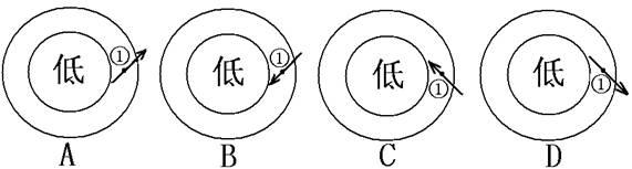试题分析: 【小题1】此题考查大气的运动。借其青藏高原,反映地形对大气运动的影响,甲图,隆起前高压中心在青藏高原所在地,隆起后高压中心在西伯利亚北半球的冬季(12月);乙图,隆起前低压中心在青藏高原所在地,隆起后低压中心在西伯利亚北半球的夏季(7月)。故选C。 【小题2】此题考查风向的判断。