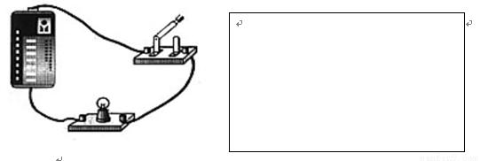 根据下面最简单的电路实物连接图,在右边方框内画出对应的电路图