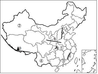 读中国轮廓图,回答下列问题.